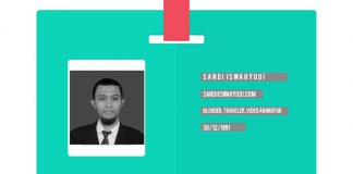 kartu nama sandi iswahyudi blogger indonesia