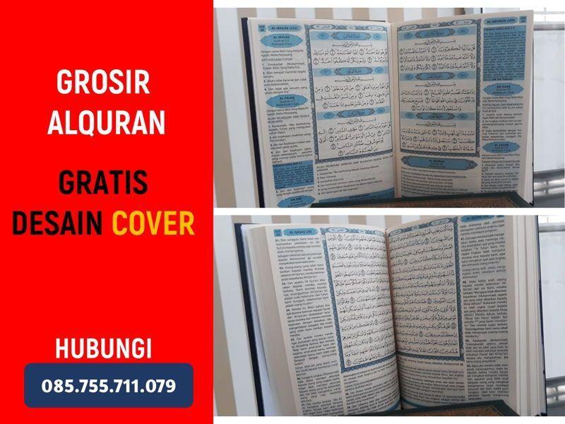 Grosir Alquran Terjemah & Tilawah, Bisa Pesan Cover, Diskon BESAR (Lewa-Lewa Boronadu Nias Selatan)!