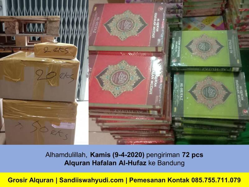 Alquran Hafalan Dikirim ke Arcamanik Bandung