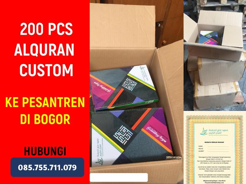 Pesanan 200 Alquran Asy-Syamail Custom GROSIR ALQURAN